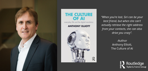 Image of Anthony Elliott and his book The Culture of AI